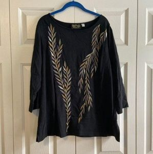 Bob Mackie Embroidered Top